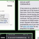 Warning about Covid-19 text message scams
